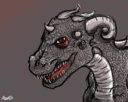 First Tablet Art- Dragon~! by DragonSmurf