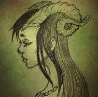 Horned Girl by DragonSmurf