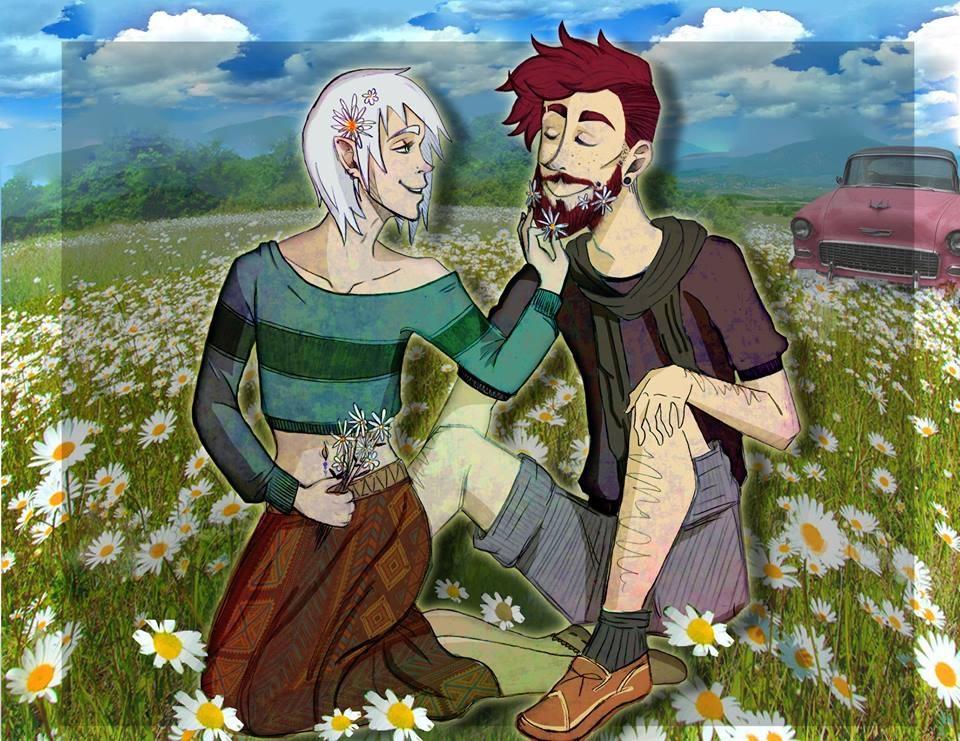 Flower Beards by DragonSmurf