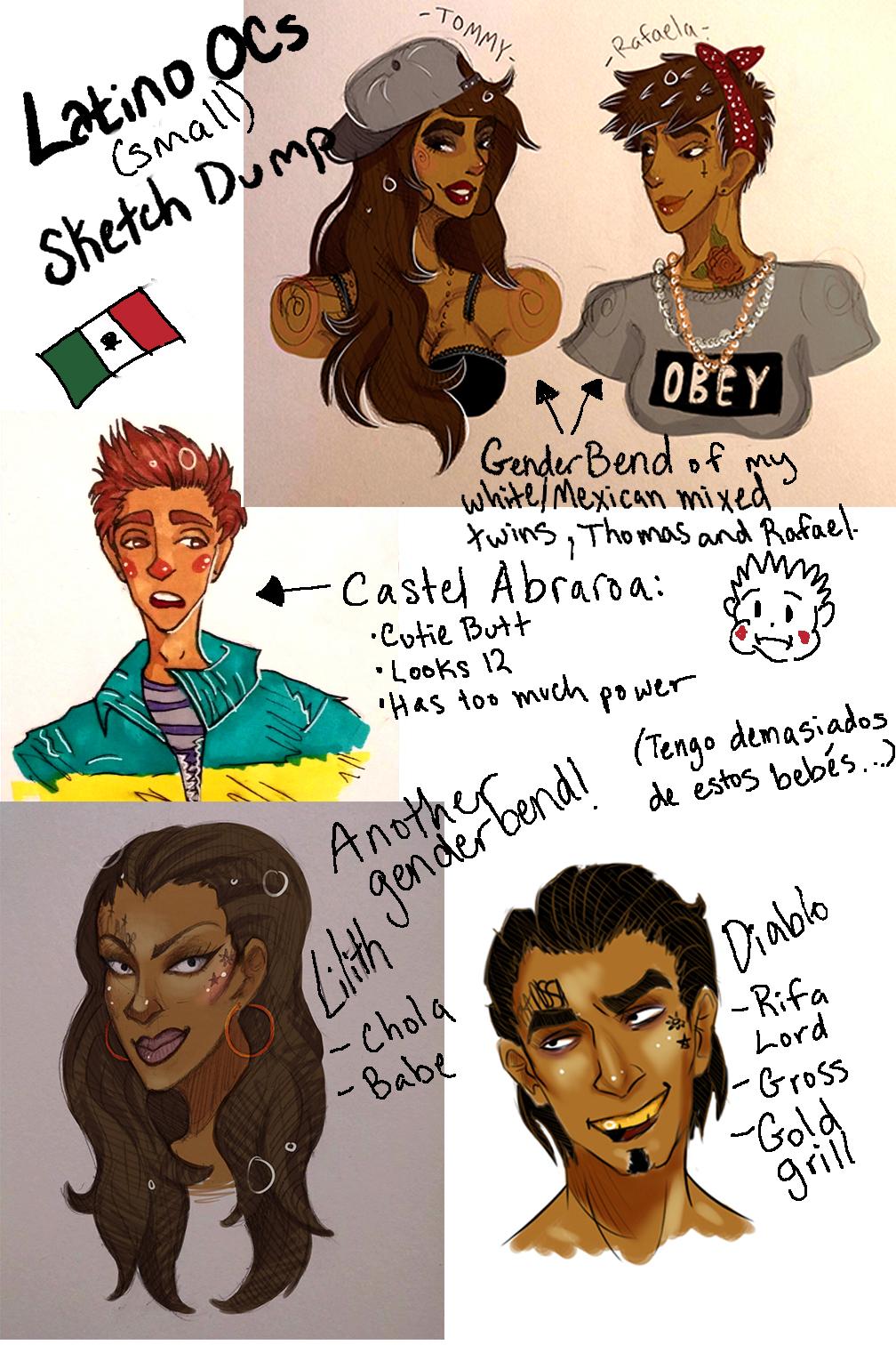 Latino Babies Sketch Dump (small) by DragonSmurf