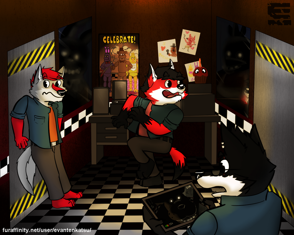 A calmed night?... at Freddy's Fazbear Pizza by EvanTenkatsu5