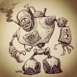 SketchBomb - New Delhi #1 : Steampunk Robot by kshiraj