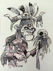 SketchBomb - New Delhi #2 : Witch Doctor by kshiraj