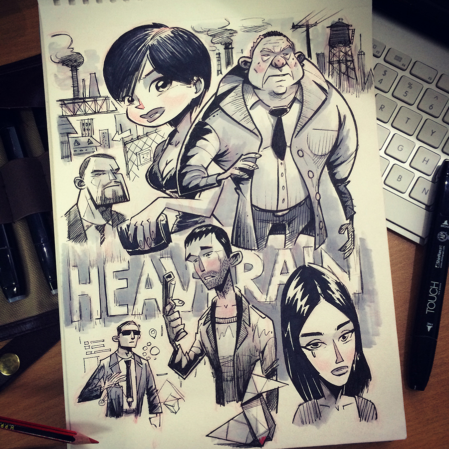 Heavy Rain Fan Art by kshiraj