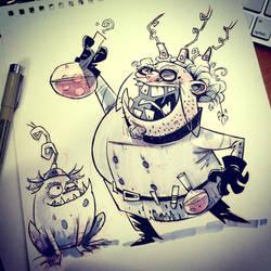 SketchBomb - New Delhi #3 : Mad Scientist by kshiraj