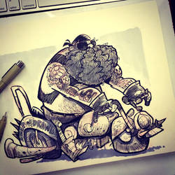 SketchBomb - New Delhi #3 : Outlaw Biker