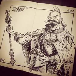 INKtober 2014 #3: King by kshiraj