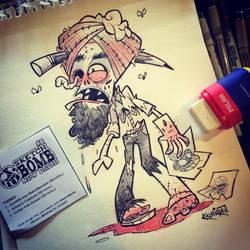 8th SketchBomb New Delhi - Zombify a SketchBomber by kshiraj