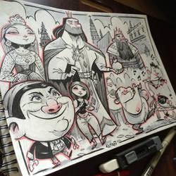 Art Drop in Barcelona Nov 2014 - Giants Parade by kshiraj