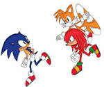 Sonic, Knuckles and Tails