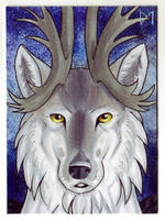 [ACEO] wolf-minori by Diaminerre