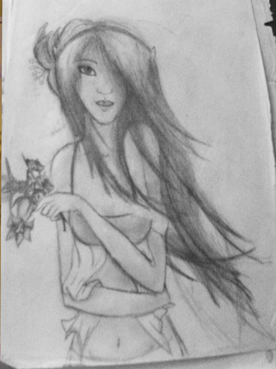 Pretty girl sketch by occulticemmaline on deviantart for Pretty sketches