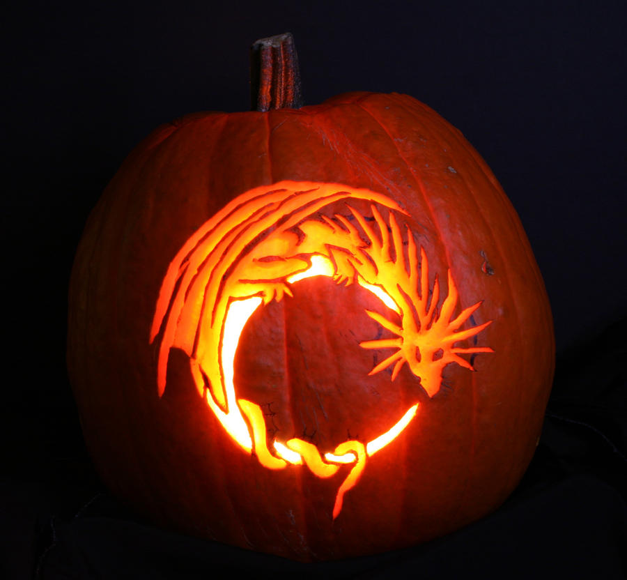 Dragon pumpkin carving by thoughts existence on deviantart