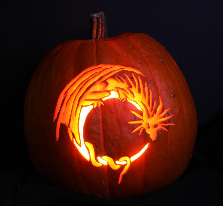Dragon pumpkin stencil bbt