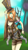 Lux and Caitlyn League of Legends