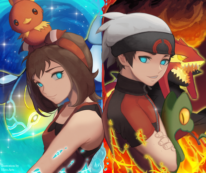 A/O - Brendan and May (Pokemon ORAS) [Speedpaint]