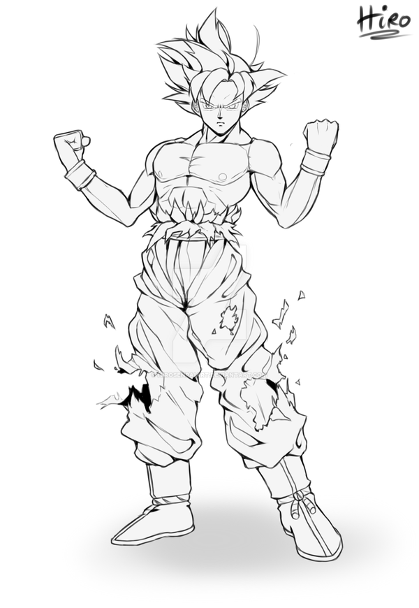 Mastered Ultra Instinct WIP by HiroSenpaiArt on DeviantArt