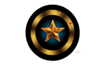 Captain America Shield Black and Gold