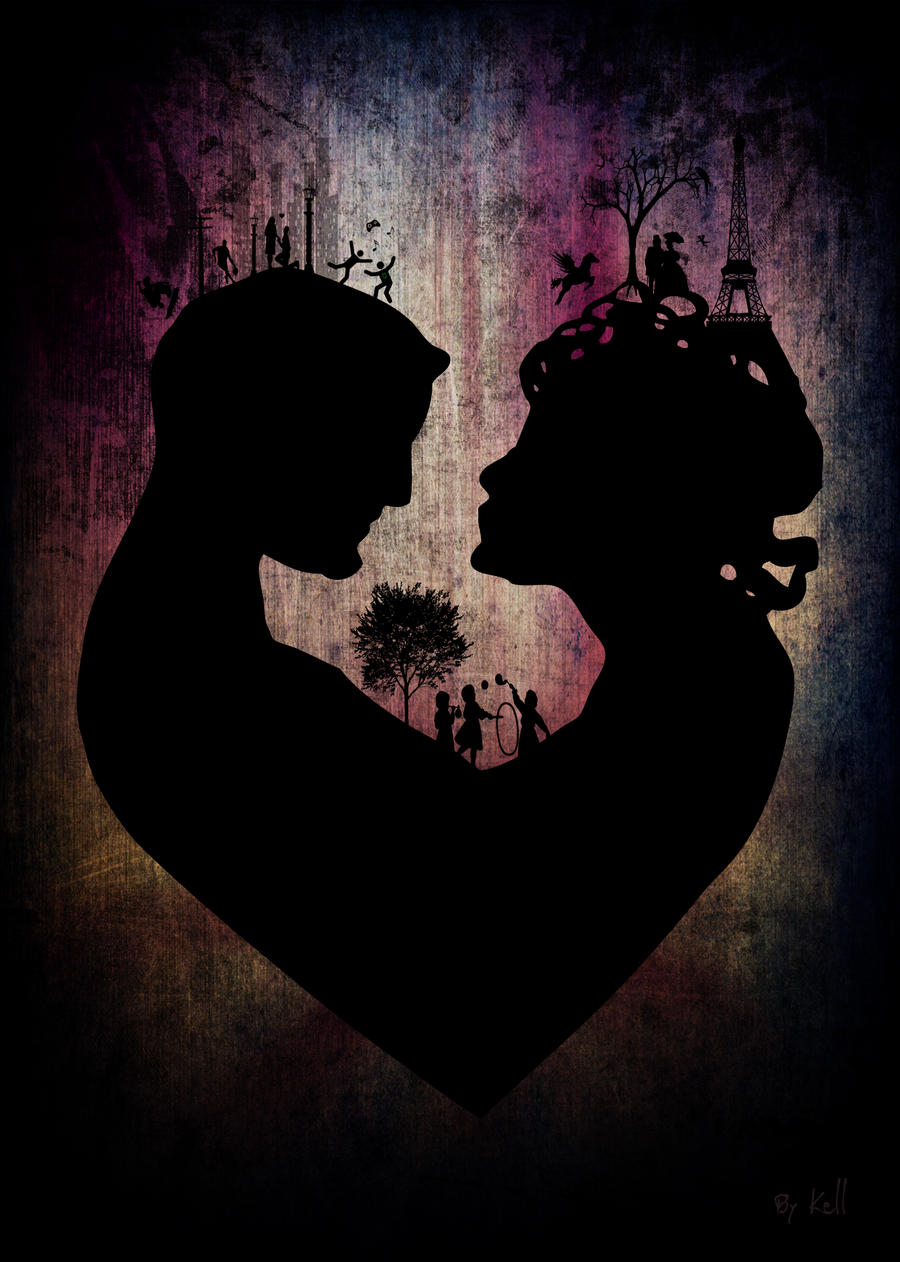 Silhouette couple by KellCandido