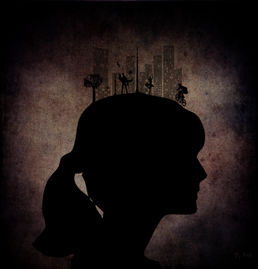 Silhouette Girl by KellCandido