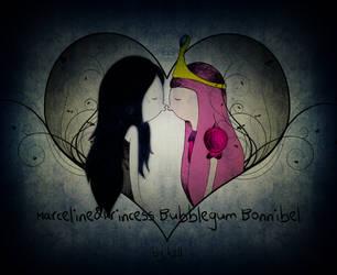 Marceline and Princess Bubblegum Bonnibel by KellCandido
