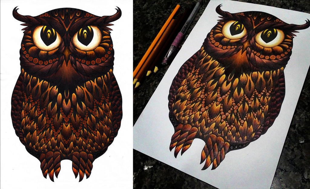 Owl print Google by KellCandido