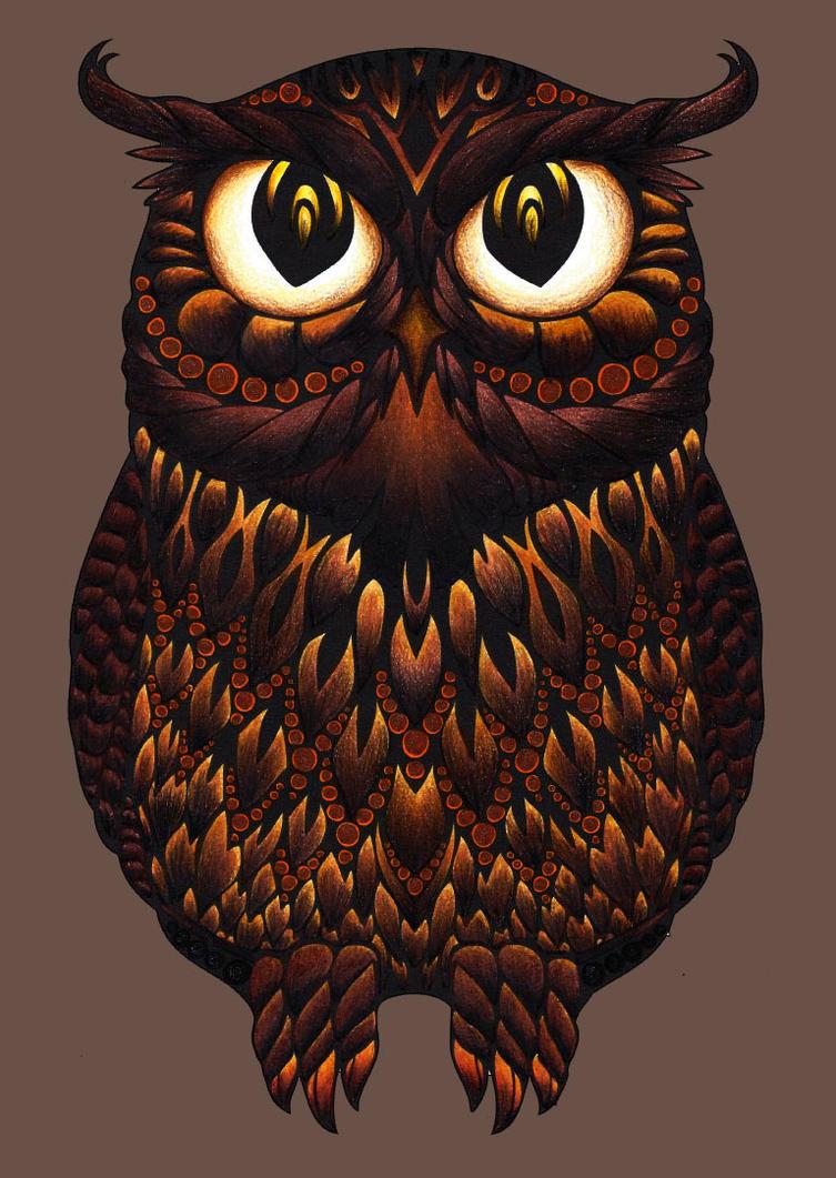 Owl - by google by KellCandido