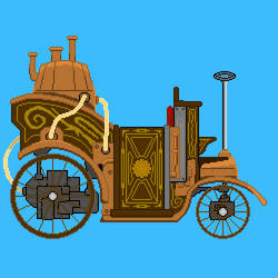 Steampunk Horseless carriage by merolvonmet