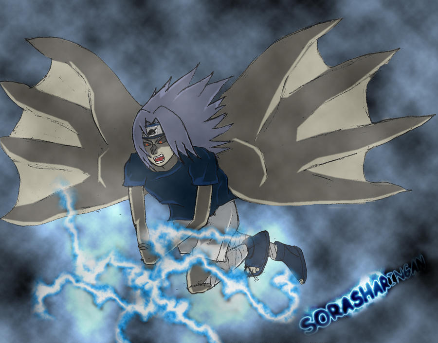 Curse Sasuke Flying Chidori by SoraSharingan on DeviantArt