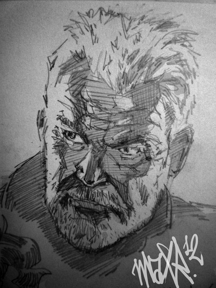 Sean Connery From The Rock Sketch by MaxRomanchak