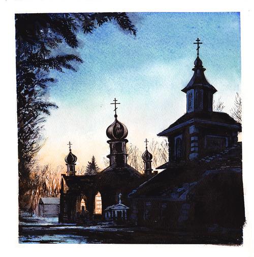 Monastery Sunset by MaxRomanchak