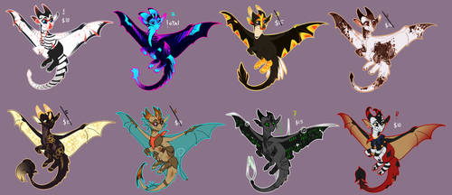 [collab] baby dragons -all taken- by VAZ0R