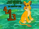 Young Simba's Birthday Wish for Two by KBAFourthtime