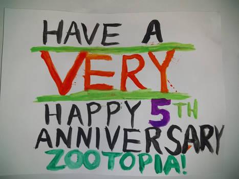 Zootopia's 5th Anniversary Banner Alone
