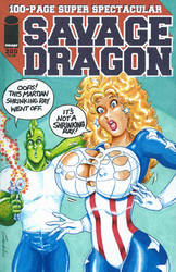 Savage Dragon 200 Sketch Cover by GRAVHELL