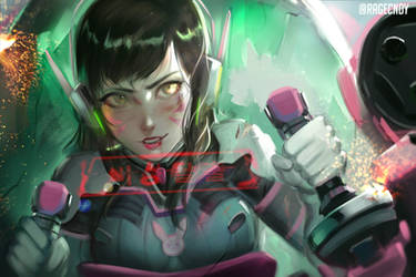 Damaged D.va by ragecndy