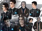 Detroit: Become Human - Hank and Connor genderbent