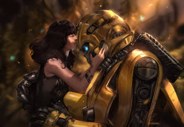 Bumblebee and Charlie by Norvadier