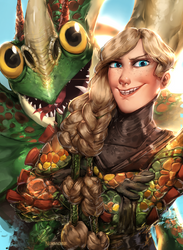 Ruffnut and Barf (Httyd Contest) by Norvadier