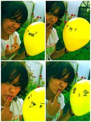 Stupid yellow balloon by mediodia