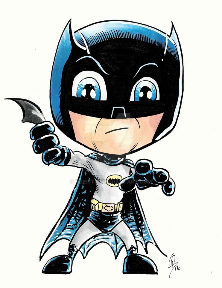 Batman - Chibi Sketch by tbeistel