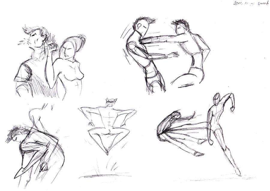 Anime Fighting Pose Drawing  Hot Girls Wallpaper