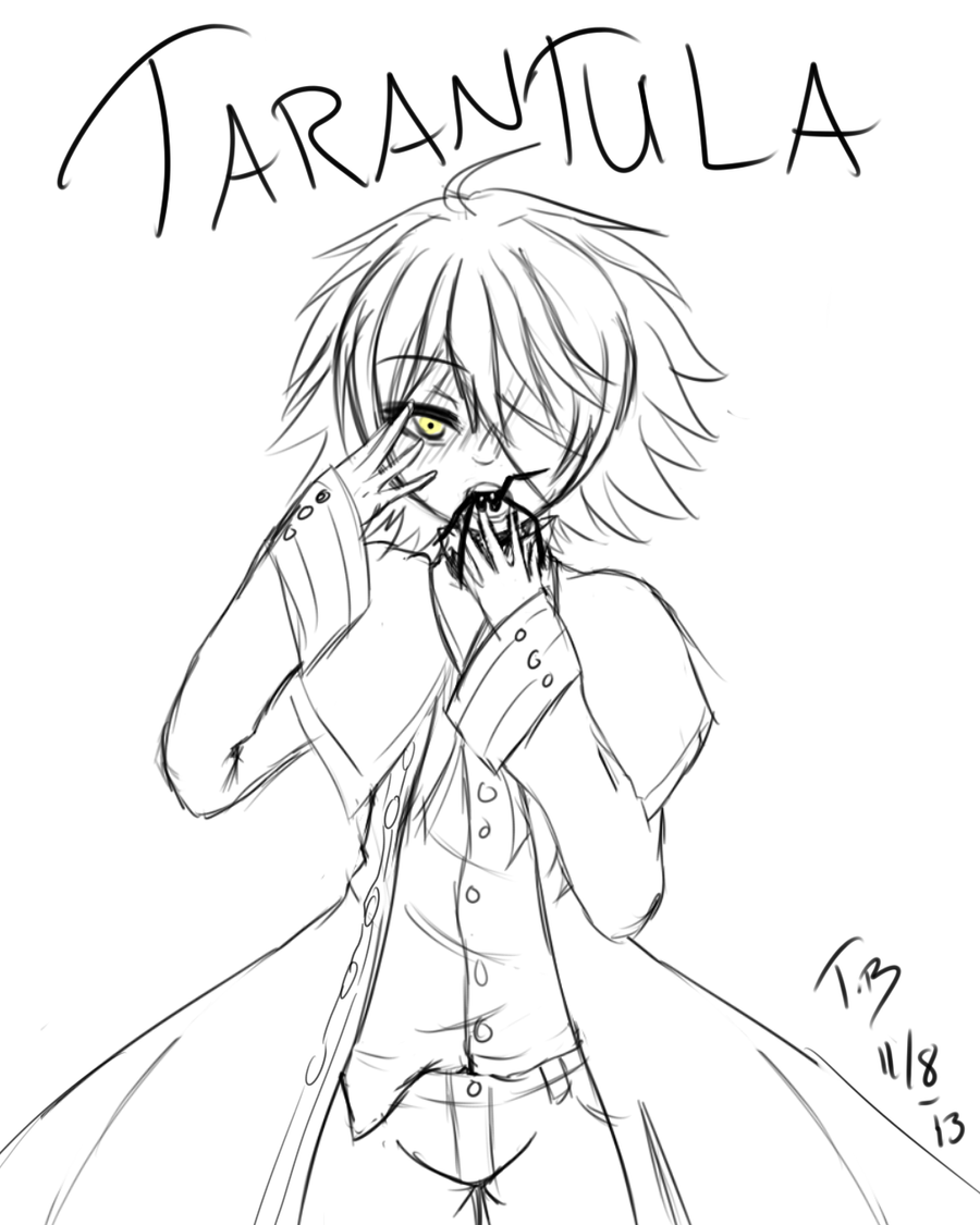Oliver tarantula +Sketch+ by Bjorkan