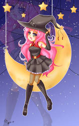 .+ The witch with pink hair +. Halloween 2017 by Bjorkan