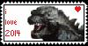 Godzilla 2014 Stamp by loneIiness