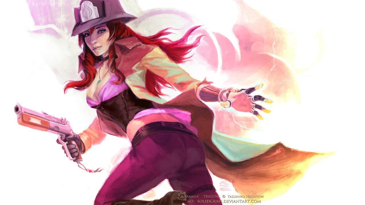 Trigun: Badlands Rumble  -  Amelia by solidgrafi
