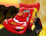 Lightning McQueen in Vectors by pandapaco