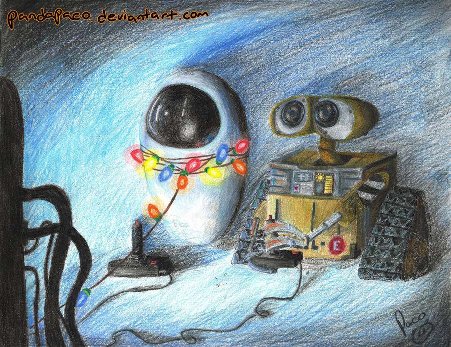 wall-e and eve playing PONG