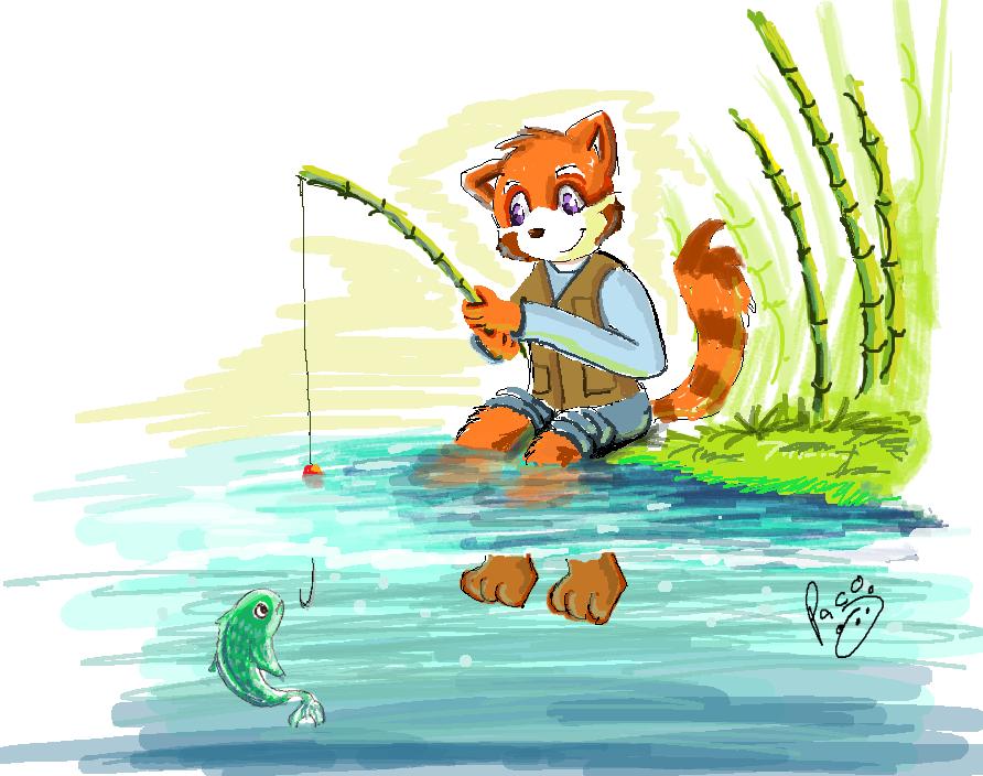 Fishing by pandapaco on deviantart