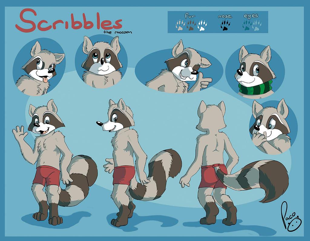 the raccoon by pandapaco  Raccoon Anthro